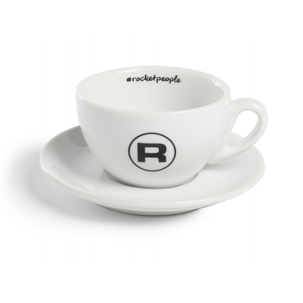 ROCKET HASHTAG CAPPUCCINO CUPS WHITE - SET OF 6